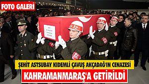Şehit Astsubay Kıdemli Çavuş Akçadağ'ın cenazesi Kahramanmaraş'a getirildi