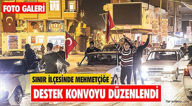 Sınır ilçesinde Mehmetçiğe destek konvoyu düzenlendi