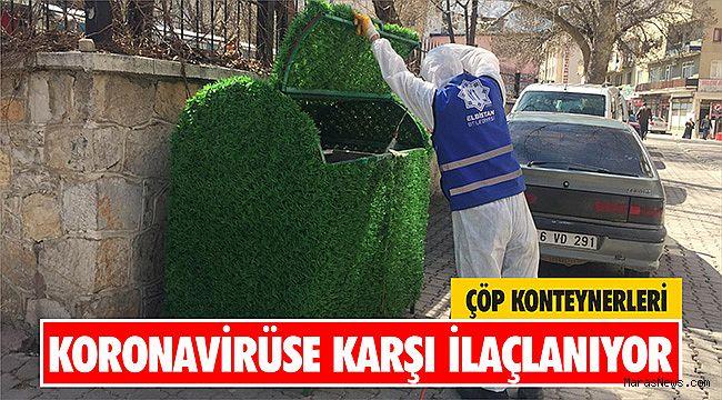 Çöp Konteynerleri koronavirüse karşı ilaçlanıyor