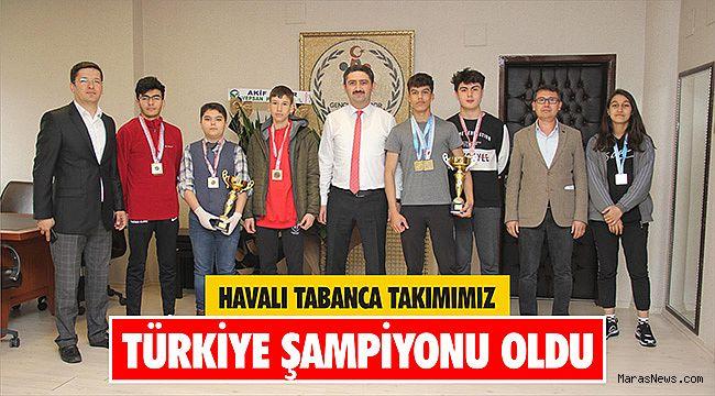 Havalı tabanca takımımız Türkiye şampiyonu oldu