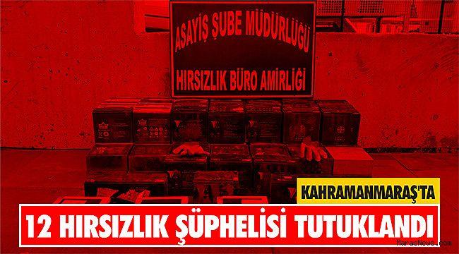 Kahramanmaraş'ta 12 hırsızlık şüphelisi tutuklandı