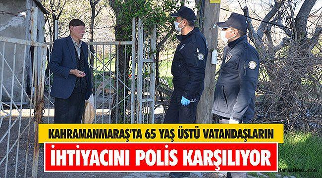 Kahramanmaraş'ta 65 yaş üstü vatandaşların ihtiyacını polis karşılıyor