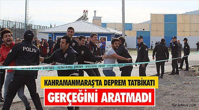 Kahramanmaraş'ta deprem tatbikatı gerçeğini aratmadı