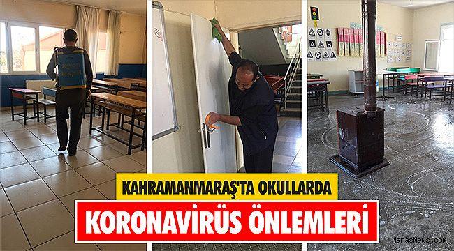 Kahramanmaraş'ta okullarda koronavirüs önlemleri