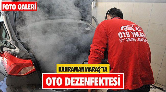 Kahramanmaraş'ta oto dezenfektesi