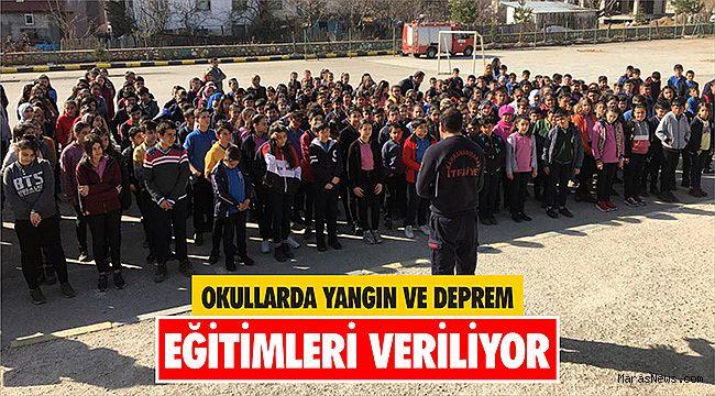 Okullarda yangın ve deprem eğitimleri