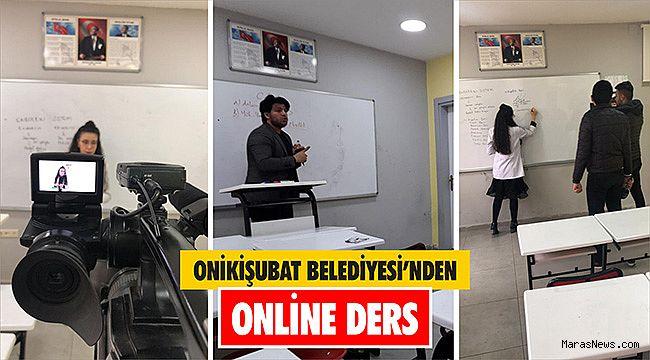 Onikişubat Belediyesi'nden Online Ders