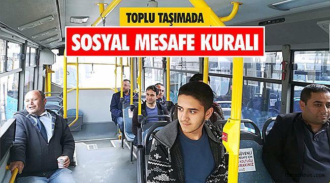 Toplu Taşımada sosyal mesafe kuralı