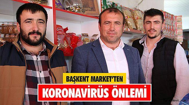 Başkent Market'ten Koronavirüs Önlemi