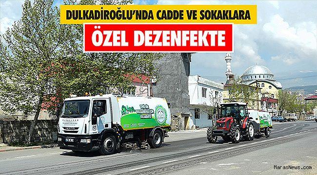 Dulkadiroğlu'nda cadde ve sokaklara özel dezenfekte