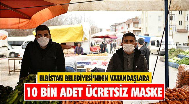 Elbistan Belediyesi'nden vatandaşlara 10 bin adet ücretsiz maske