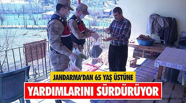 Jandarma'dan 65 yaş üstüne yardımlarını sürdürüyor