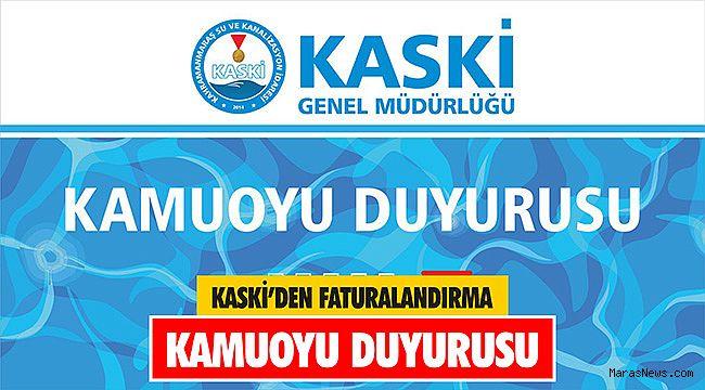 KASKİ'den Faturalandırma kamuoyu duyurusu