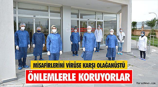 Misafirlerini virüse karşı olağanüstü önlemlerle koruyorlar