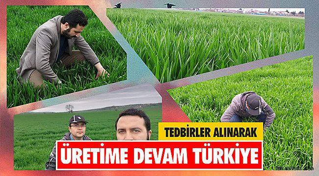 Tedbirler alınarak üretime devam Türkiye