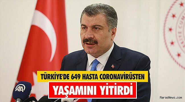 Türkiye'de 649 hasta coronavirüsten yaşamını yitirdi