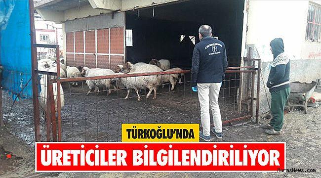 Türkoğlu'nda üreticiler bilgilendiriliyor