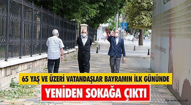 65 yaş ve üzeri vatandaşlar bayramın ilk gününde yeniden sokağa çıktı