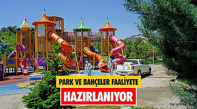 Park ve bahçeler faaliyete hazırlanıyor