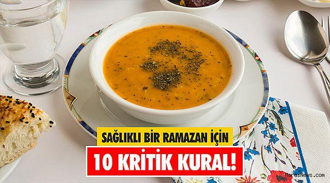 Sağlıklı bir Ramazan için 10 kritik kural!