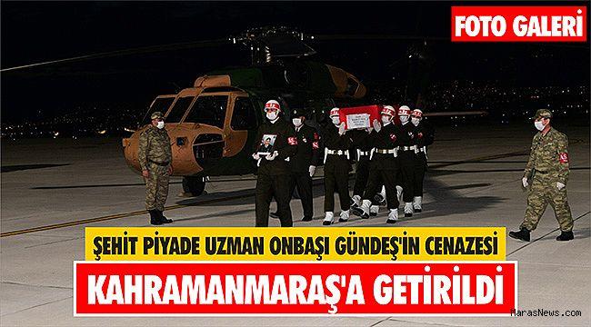 Şehit Piyade Uzman Onbaşı Gündeş'in cenazesi Kahramanmaraş'a getirildi