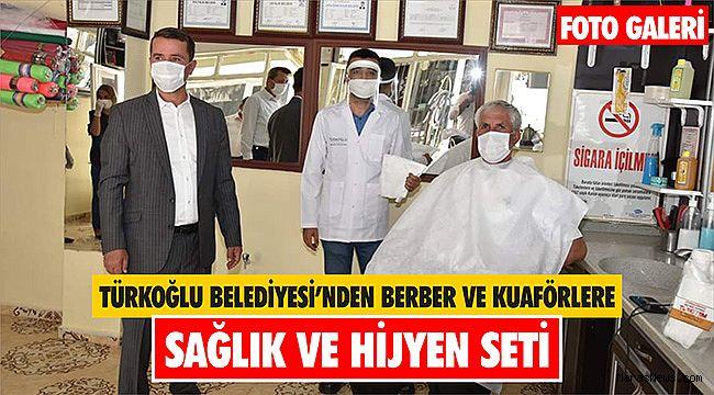 Türkoğlu Beledıyesi'nden Berber ve Kuaförlere sağlık ve hijyen seti