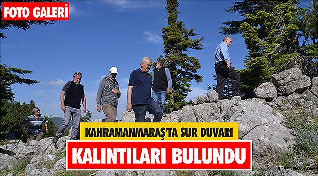 Kahramanmaraş'ta sur duvarı kalıntıları bulundu