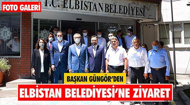 Başkan Güngör'den Elbistan Belediyesi'ne ziyaret