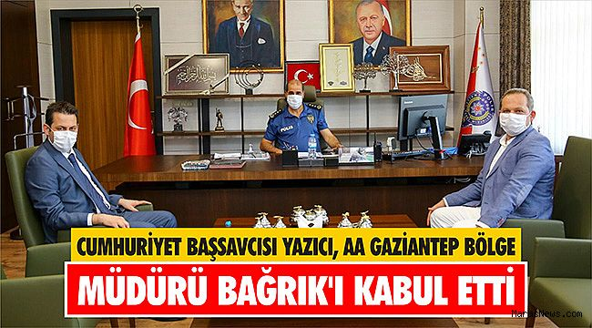 Cumhuriyet Başsavcısı Yazıcı, AA Gaziantep Bölge Müdürü Bağrık'ı kabul etti