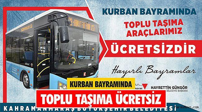 Kurban Bayramında Toplu Taşıma Ücretsiz
