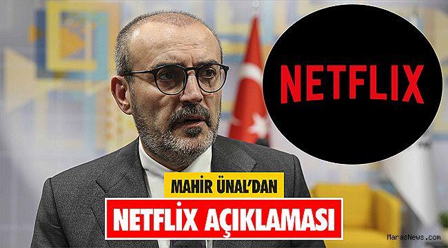 Mahir Ünal'dan Netflix açıklaması