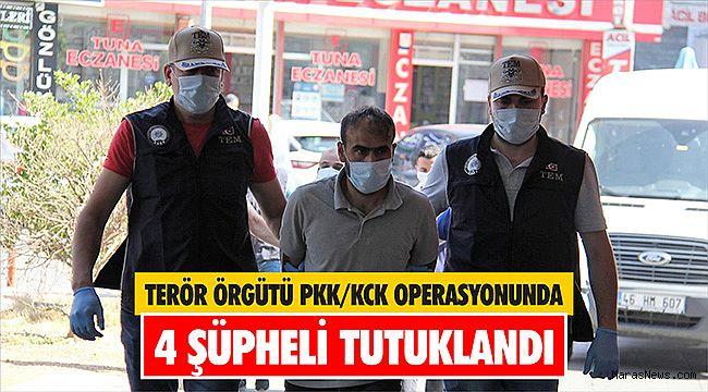 Terör örgütü PKK/KCK operasyonunda 4 şüpheli tutuklandı