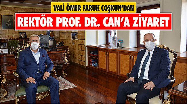 Vali Ömer Faruk Coşkun'dan Rektör Prof. Dr. Niyazi Can'a Ziyaret