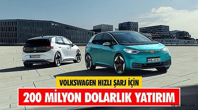 Volkswagen hızlı şarj için 200 Milyon dolarlık yatırım