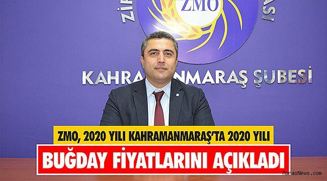 ZMO, 2020 Yılı Kahramanmaraş'ta 2020 Yılı Buğday fiyatlarını açıkladı