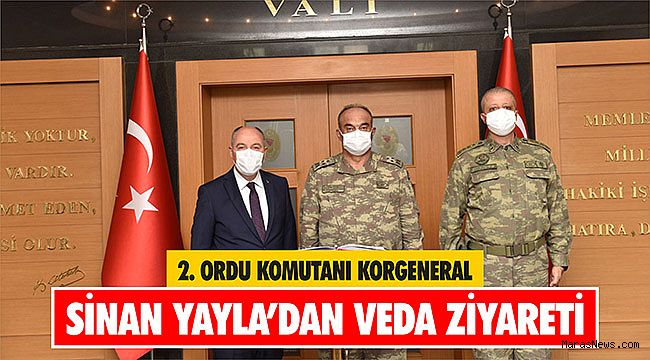 2. Ordu Komutanı Korgeneral Sinan Yayla'dan veda ziyareti