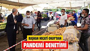 Başkan Okay'dan pandemi denetimi