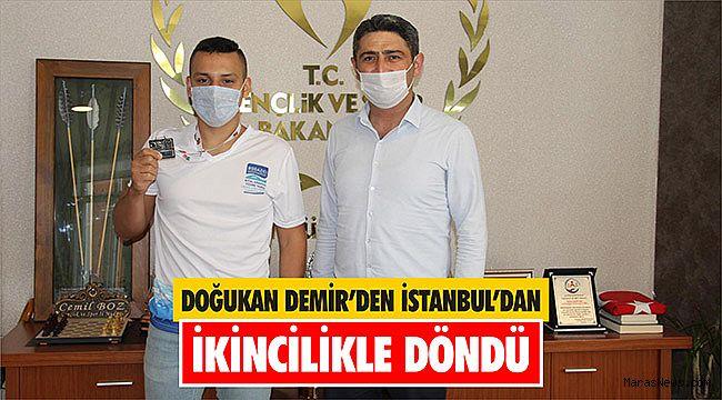 Doğukan Demir'den İstanbul'dan ikincilikle döndü