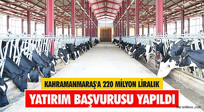 Kahramanmaraş'a 220 milyon liralık yatırım başvurusu yapıldı