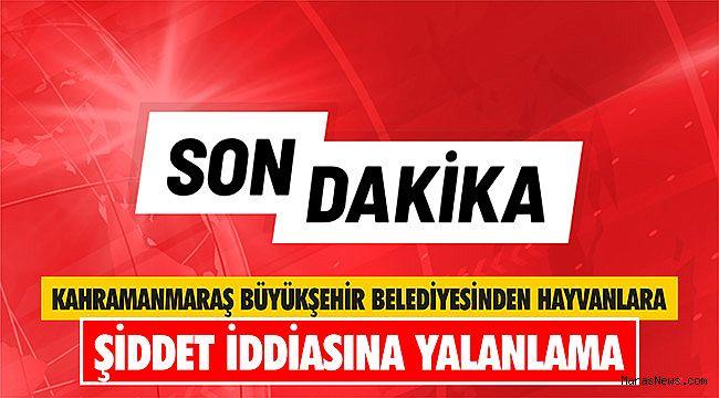 Kahramanmaraş Büyükşehir Belediyesinden hayvanlara şiddet iddiasına yalanlama