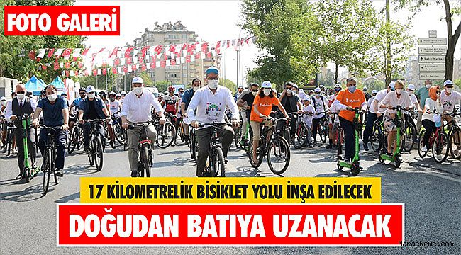 17 Kilometrelik Bisiklet Yolu İnşa Edilecek