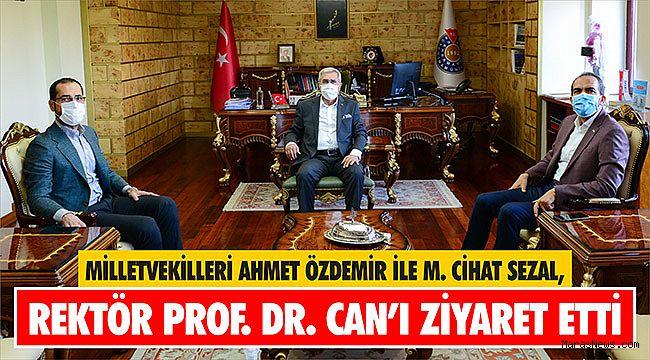 Ahmet Özdemir ile M. Cihat Sezal, Rektör Prof. Dr. Niyazi Can'ı Ziyaret Etti