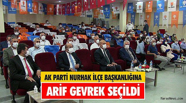 AK Parti Nurhak ilçe Başkanlığına Arif Gevrek seçildi
