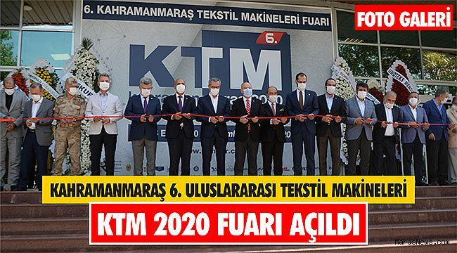 Kahramanmaraş 6. Uluslararası Tekstil Makineleri KTM 2020 Fuarı açıldı