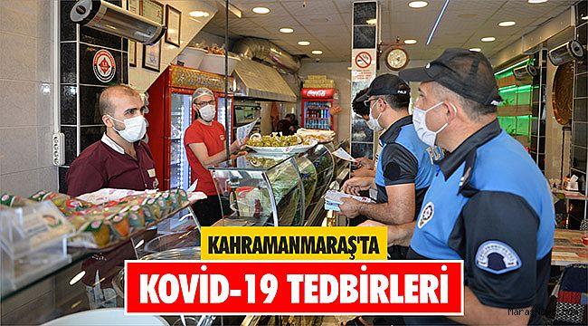 Kahramanmaraş'ta Kovid-19 tedbirleri