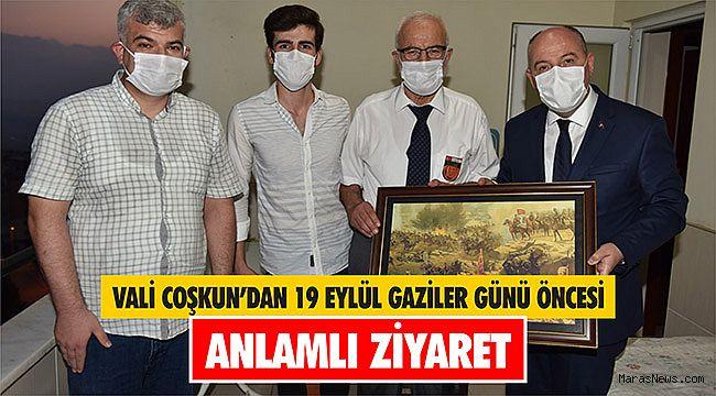 Vali Coşkun'dan 19 Eylül Gaziler Günü öncesi anlamlı ziyaret