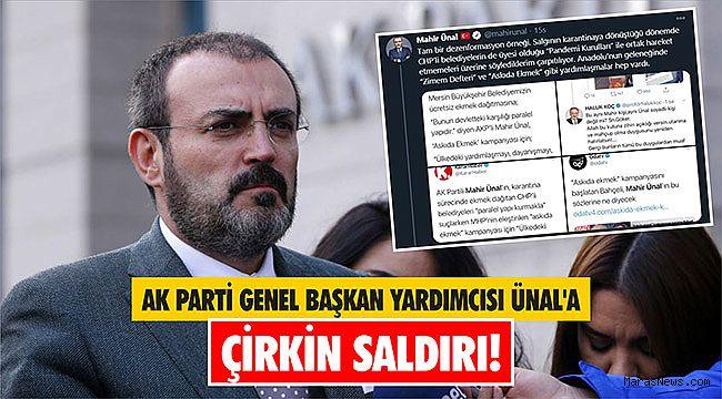AK Parti Genel Başkan Yardımcısı Ünal'a çirkin saldırı!