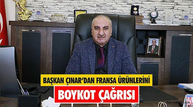 Başkan Çınar'dan Fransa ürünlerini boykot çağrısı
