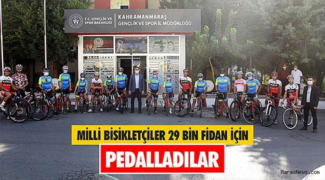 Milli bisikletçiler 29 bin fidan için pedalladılar