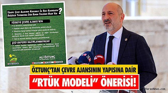"""Öztunç'tan Çevre Ajansının yapısına dair """"RTÜK Modeli"""" önerisi!"""
